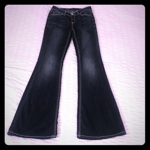 """Seven Jeans high rise flare with 34"""" inseam"""